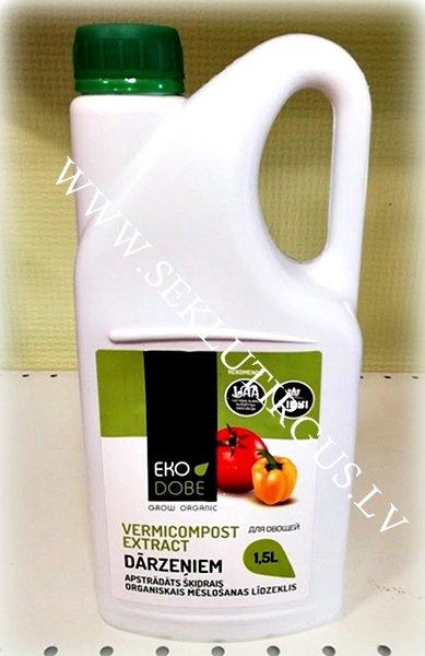 Organisks mēslojuma koncentrāts dārzeņiem – EKO DOBE Vermicompost Extract 1,5 L