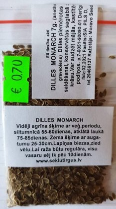 Dilles MONARCH 7 g Moravo Seed