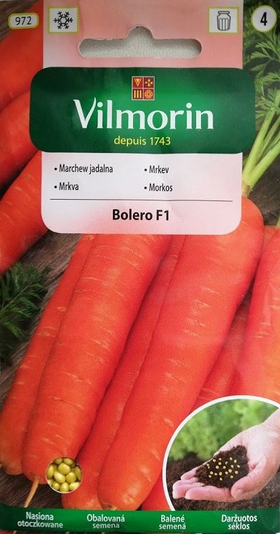 Burkāni BOLERO F1 400 granulas Vilmorin
