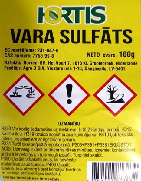 Vara sulfāts 100 g HORTIS