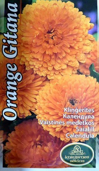 Ārstniecības kliņģerīte Orange Gitana 2 g Kurzemes Sēklas