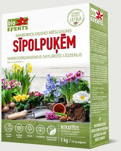 Mikrobioloģisks mēslojums SĪPOLPUĶĒM 1kg/ 10 kg augsnes 1 gab Bioefekts