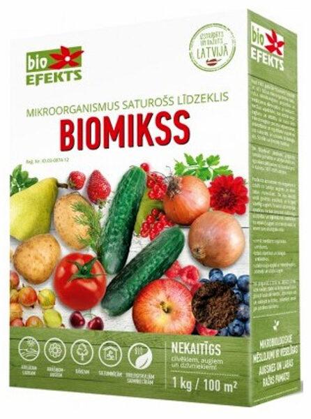Biomikss - augu ražības palielināšanai un slimību profilaksei 1 kg Bioefekts