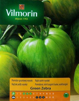 Tomāti GREEN ZEBRA 0.2 g Vilmorin