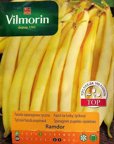 Sparģeļpupiņas garās RAMDOR 10 g Vilmorin