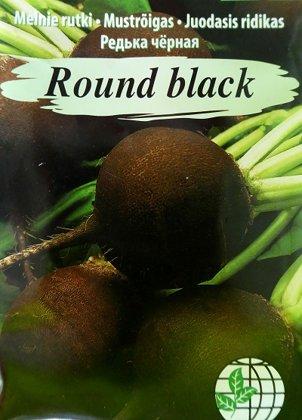 Melnais rutks Round black 2 g Agrimatco
